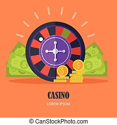 Casino Concept Vector Illustration Flat Design.
