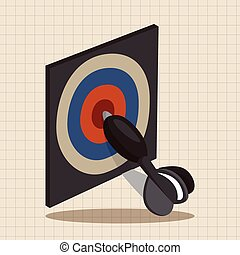 casino darts theme elements