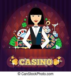 Casino Dealer Concept - Casino dealer concept with cards ...