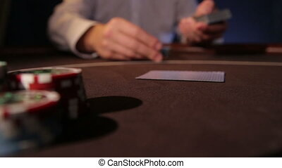 Casino. Dealing cards