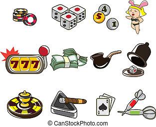 casino, dessin animé