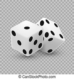 Casino dice on a transparent background.