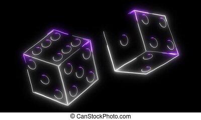 Casino Dice sign video laser animation
