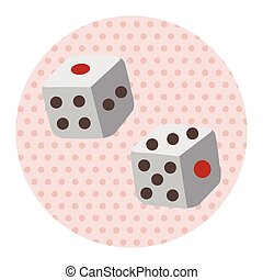 casino dice theme elements