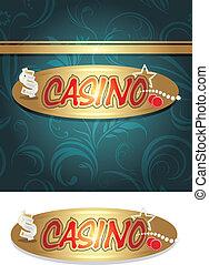 casino, diseño, plano de fondo