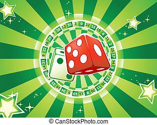 casino, dobbelstenen, achtergrond