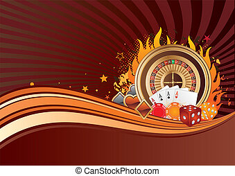 gambling background - casino elements, gambling background