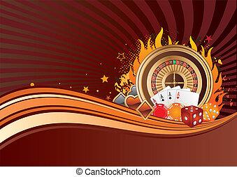 gambling background - casino elements, gambling background