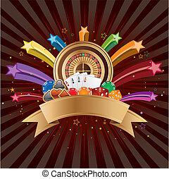 casino elements vector - casino elements, colorful star