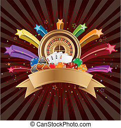 casino elements vector - casino elements,colorful star