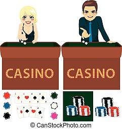 casino, ensemble, gens