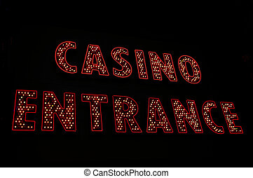 Casino entrance neon sign, Las Vegas