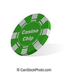 Casino feature. Volumetric vector illustration for theme design