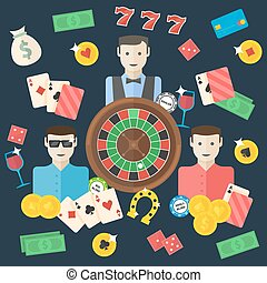 Casino flat illustration