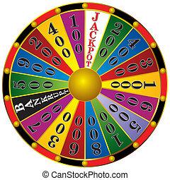 Fortune wheel - casino Fortune wheel isolated on white ...