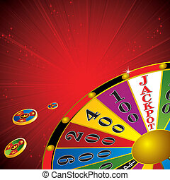 Fortune wheel - casino Fortune wheel with chips strip red...