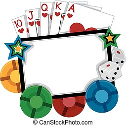 Casino Frame - Frame Illustration Featuring Different...