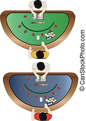Casino furniture , Blackjack table