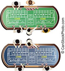 Casino furniture , craps table