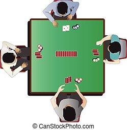 Casino furniture , Poker table