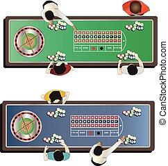 Casino furniture , roulette table