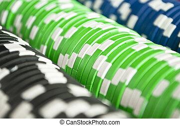 Casino gambling chips background
