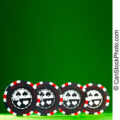 gambling chips - Casino gambling chips with copy space.