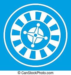 Casino gambling roulette icon white