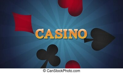 Casino game over card symbols HD animation - Casino game...