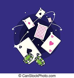 casino game poker cards and chips