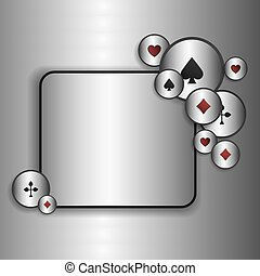 Casino game poster. A Vector background for your Poker Tour. Write your message on the copy space.