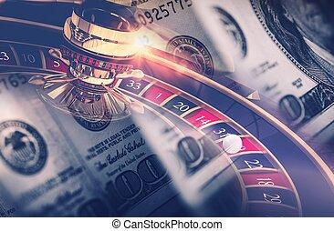 Casino Games Roulette Concept