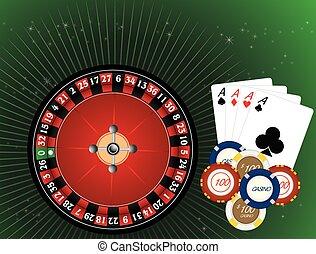 casino, geluksspelletjes, illustratie