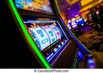 casino, gleuf bewerkt