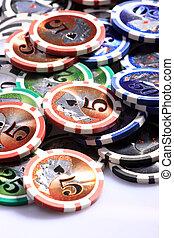 casino, gokkende spaanders