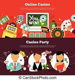 Casino Horizontal Banners Set