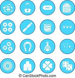 Casino icon blue