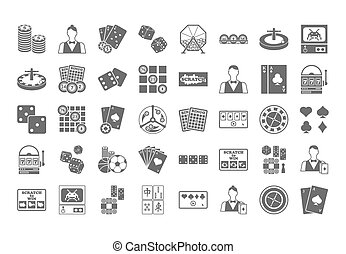 Casino icon. Vector Illustration isolated on white...