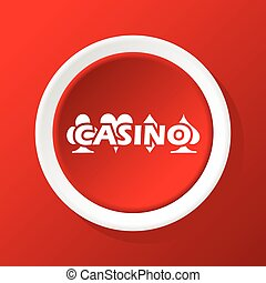Casino icon on red