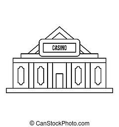 Casino icon, outline style