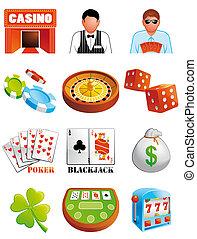 casino, iconos
