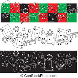 casino icons vector frieze