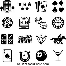 Casino icons. Vector illustrations.