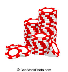 Casino illustration - Casino vector illustration red chips...
