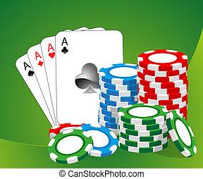 Casino illustration - Casino vector illustration (blue,...