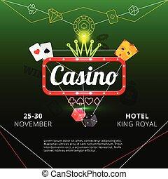 Casino invitation poster