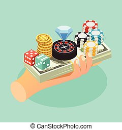 Casino Isometric Background - Casino isometric background...