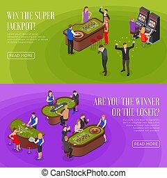 Casino Isometric Banners