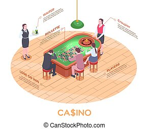 Casino Isometric Composition