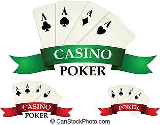 casino, juego, símbolos, y, señales